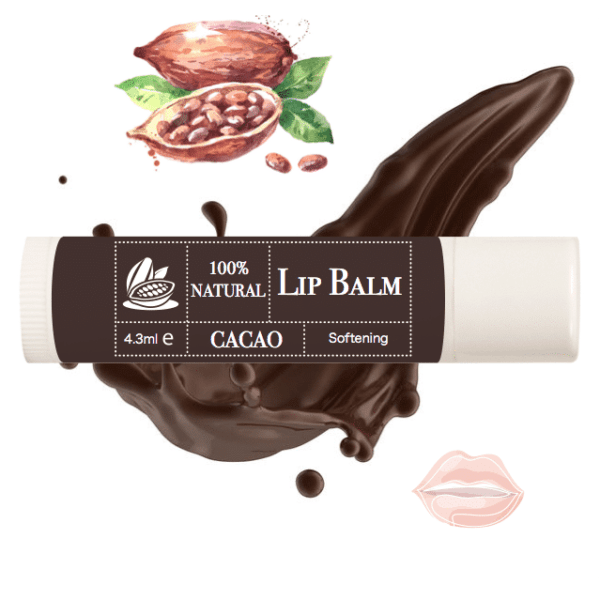 100% pure natural lip balm cacao puru