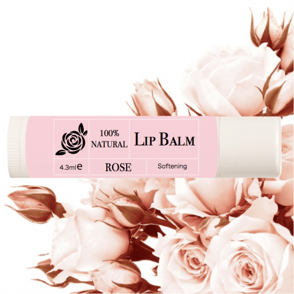 100% Natural Lip Balm – Rose Flower photo 1