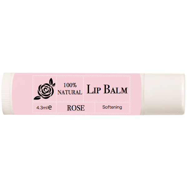 100% Natural Lip Balm – Rose Flower