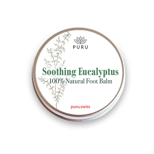 100% Natural Foot Balm with Soothing Eucalyptus mockup